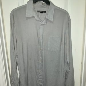 NEW NEVER WORN GREY LINEN JOHN VARVATOS MEDIUM